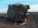 Damaged Tank Car
