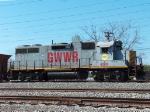Northbound KCS Work Train With GWWR Power