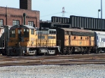 Ex-UP 1264 SW10 and CNW 315 F7B