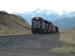 MRL 346 SD45 hauling up Bozeman Pass