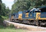 CSX C40-8W's 7329 and 7882, GP40-2 6105, B40-8 5940, and GP38-2 2553 head SB