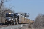 NS 7217 Ex Con Ex CSX  On NS 288 Westbound
