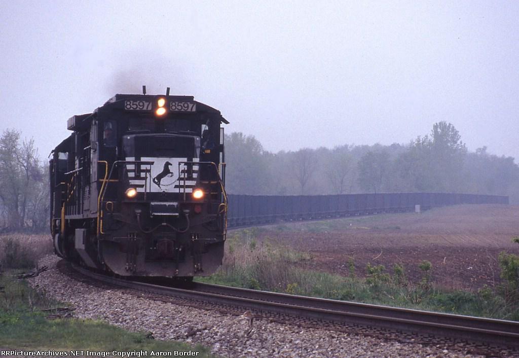 Empty stone train