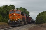BNSF 7195 westbound BNSF empty ethanol train