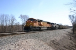 BNSF 9921 powers westbound empties