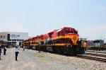 KCSM Locomotives in the yard