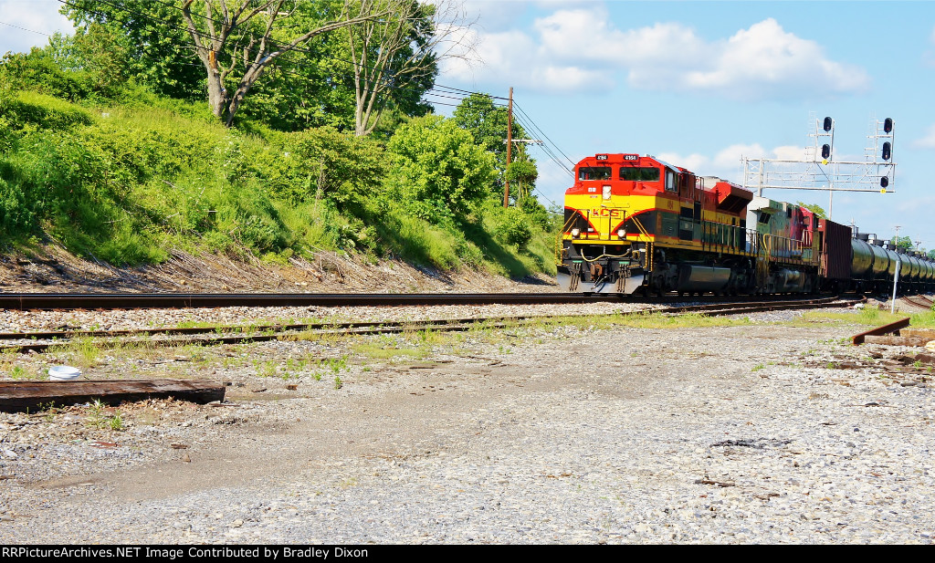 KCS leading tank car