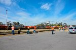 Railfans on the yard at Ferrovalle