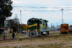 FTVM B23-7 Locomotive arriving to the yard