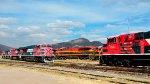 Ferromex, KCS and KCSM Locomotives at Ferrovalle yard
