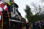 Engines / Caboose Decorated For Christmas
