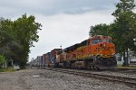 BNSF 7275 DPU on westbound BNSF intermodal train