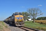 UP 5807 westbound UP empty grain train
