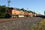 BNSF 5790 Leads a coal load down the K line.