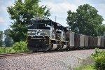 NS 1003 Work's dpu on a loaded Bnsf coal load.