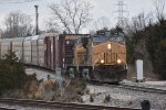 UP 7264 Rides some rough track in the GM yard