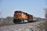 BNSF 5783 Leads a small Track geo train on the K line.