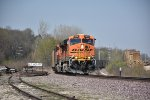 BNSF 5954 Drags a loaded coal into Old Monroe Mo.