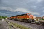 BNSF 6274  Races a thunderstorm on the Hannibal Sub.