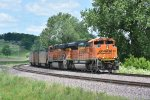 BNSF 8484 Rounds the curve at Burns Aka Clarksville Mo.