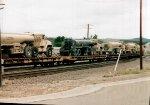 Military trucks train