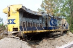 CSX 9011 was found on it's side, which is evident in this picture