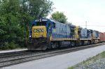CSXT 5864 drifts by Fostoria depot