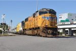 UP 4418 on 1st Brightline Trainset Move