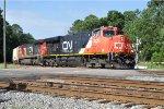CN 2231 on CSX Empty Ethanol Train