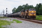 UP 7523 on CSX Empty Ethanol Train