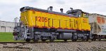 SQVR 1205 X-UP Y1205 XX-SP 2635 SW1500 sitting shut down in the Jasper Industrial Park in Jasper TN 4:13PM 03-20-2016 FRONT FIREMAN SIDE