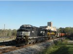 NS 9214 leads NS #174 past the old Juliette Mill