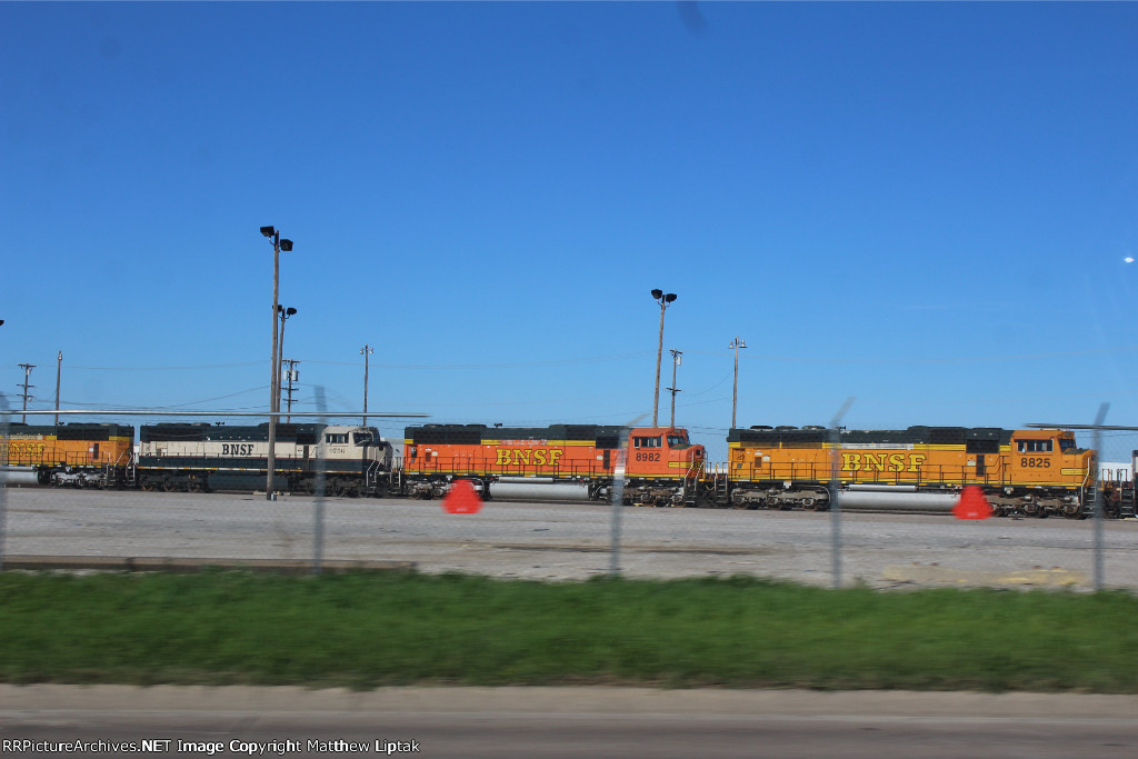 BNSF 9756, 8982, and 8825