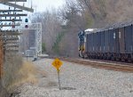 NS northbound coal heading toward the diamonds at Worthington.