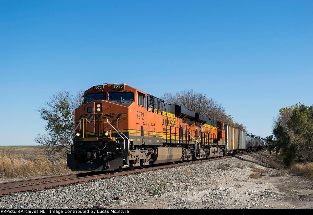 BNSF 7272 westbound BNSF empty ethanol train