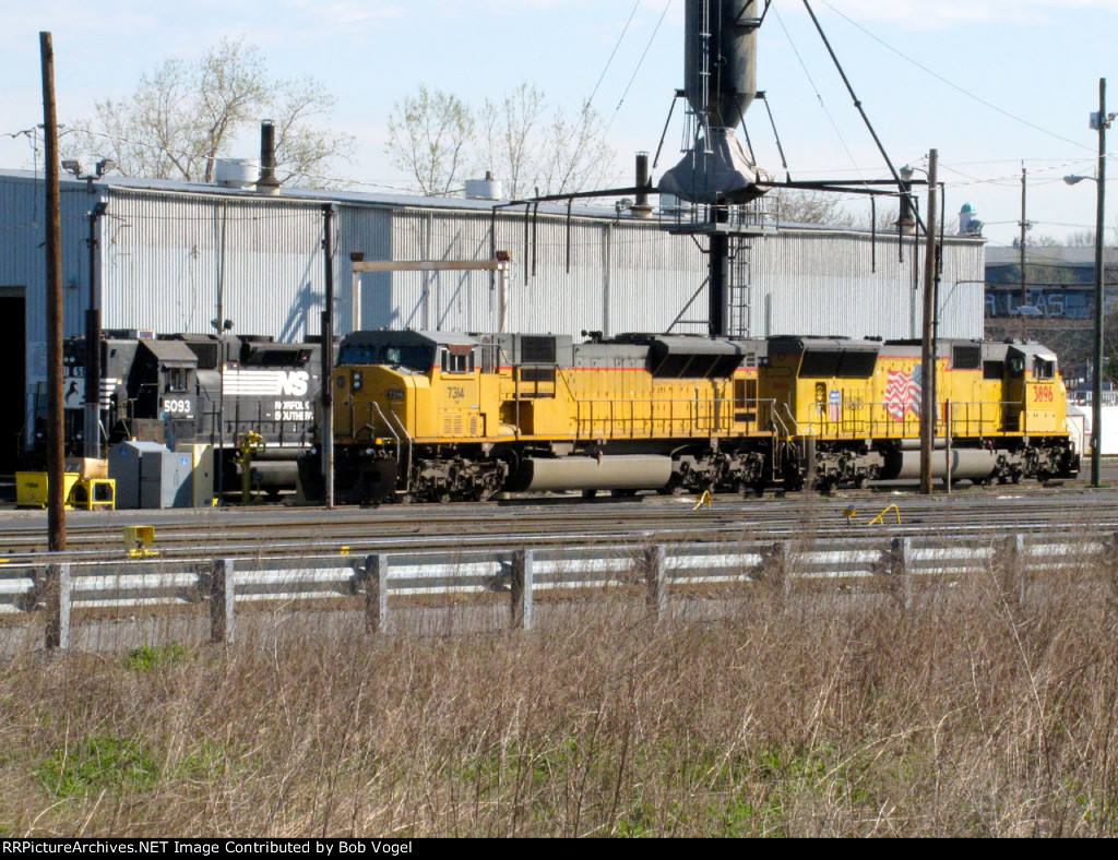 NS 7314 and UP 3896
