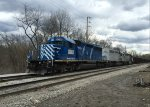 WE 6349 has lead the train out of Summit St. at 2230 tonight.