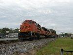 BNSF 9192 leading Empty Scherer Coal Train