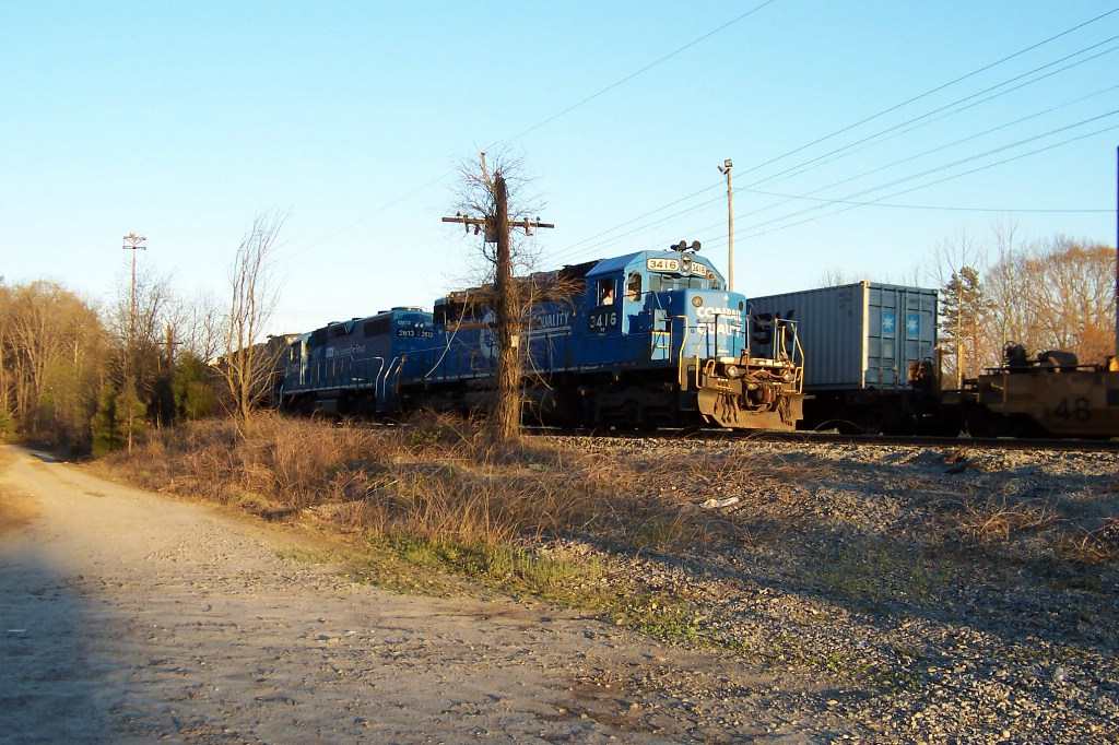 This ol' boy has 3 leasers and a WC SD45 behind this Ex Conrail