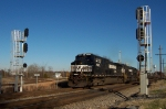 Westbound Coal comes through the crossovers