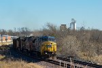 CSXT 7750 westbound UP empty coal train