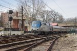 "AMTK P42DC #125 on ""Pennsylvanian"" No. 42"