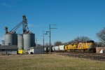 UP 7612 eastbound UP loaded grain train