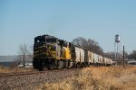 KCSM 4529 DPU on eastbound UP loaded grain train
