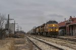 UP 7829 eastbound K&O loaded grain train