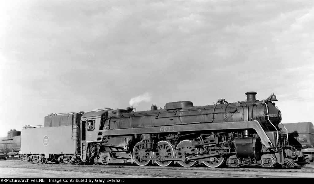 CN 4-8-2 #6077 - Canadian National