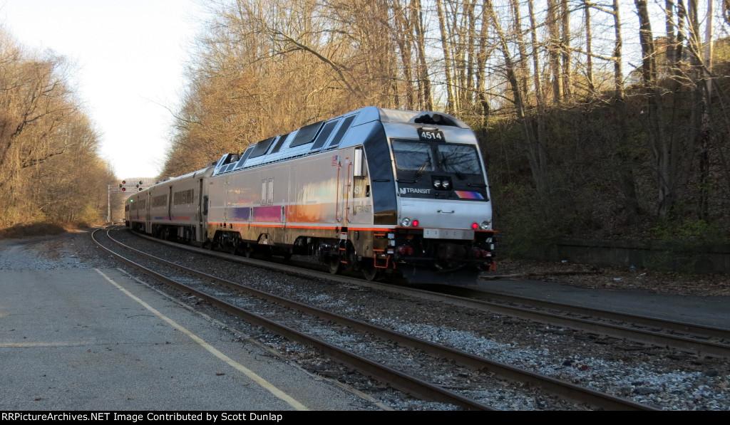 NJ Transit Train Number 858 Leaving Lake Hopatcong