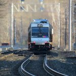 NJ Transit Train Number 858 Leaving Lake Hopatcong