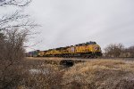 UP 5869 eastbound UP intermodal train