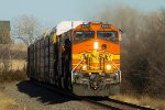 BNSF 5271 westbound BNSF loaded vehicle train